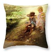 Just Fishin' Throw Pillow