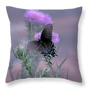 Just Fluttering By Throw Pillow