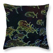 Mad Fish Abstract Throw Pillow