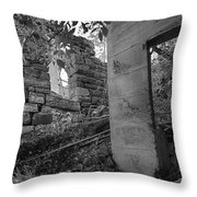 Just Left There Jerome Black And White Throw Pillow