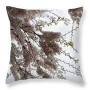Just Lift Your Head And Enjoy Spring Throw Pillow