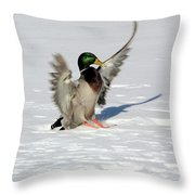 Just Like Skiing Throw Pillow