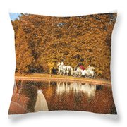 Just Married - A Fairytale Throw Pillow