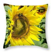 Just Me And The Bumblebee Throw Pillow