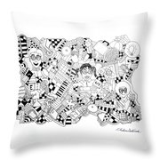 Just Nerdy Things Throw Pillow by Chelsea Geldean