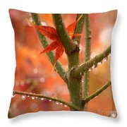 Just One Leaf Throw Pillow
