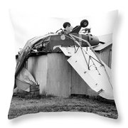 Just Plane Exhausted Throw Pillow