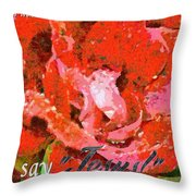 Just Say Jesus Throw Pillow