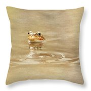 Just She Was Still There Throw Pillow