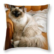 Just Sitting Throw Pillow