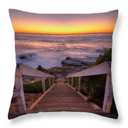 Just Steps To The Sea Throw Pillow