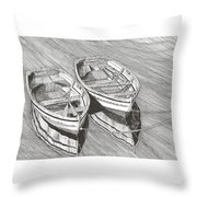 Two Dinghy Friends Just The Two Of Us Throw Pillow