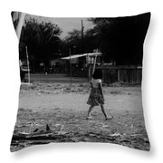 Just Turn Left Throw Pillow