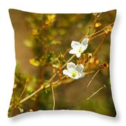 Just Two Little White Flowers Throw Pillow