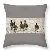Just Waddling Throw Pillow