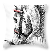 Justin Morgan Throw Pillow