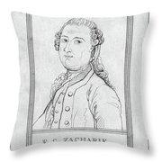 Justus Zachariae (1726-1777) Throw Pillow