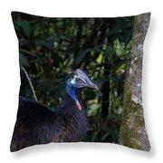 Juvenile Cassowary Throw Pillow