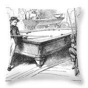 Juvenile Delinquency, 1881 Throw Pillow