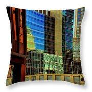 Juxtaposition Of Pittsburgh Buildings Throw Pillow