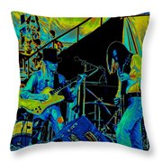 Jwinter #6 In Cosmicolors Throw Pillow