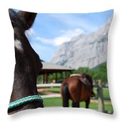 K Country Throw Pillow
