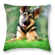 K9 Cute Throw Pillow