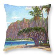 Kaaawa Beach - Oahu Throw Pillow