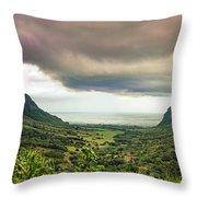 Kaaawa Valley Panorama Throw Pillow