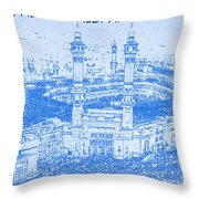 Kaabah in mecca saudi arabia blueprint drawing art print by kaabah in mecca saudi arabia blueprint drawing throw pillow malvernweather Image collections