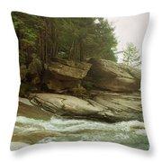 Kaaterskill Falls In Autumn, Catskill Throw Pillow