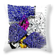 Kabbalah And Fish Throw Pillow