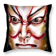 Kabuki One Throw Pillow