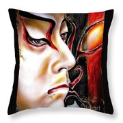 Kabuki Three Throw Pillow