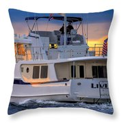 Kadey Krogen Yacht Throw Pillow