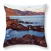 Ka'ena Point Oahu Sunset Throw Pillow