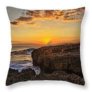 Kaena Point Sunset Throw Pillow