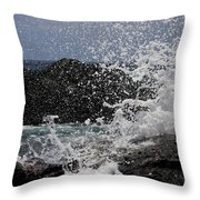 Ka'ena Point Surf Throw Pillow