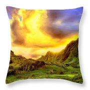 Kahana Valley Sunset Throw Pillow