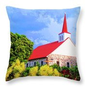 Kahikolu Congregational Throw Pillow