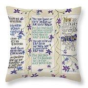 Kahlil Gibran - Children Throw Pillow by Dave Wood