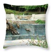 Kahlil Gibran Memorial Garden Throw Pillow