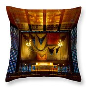 Kaiser Wilhelm Church Organ Throw Pillow
