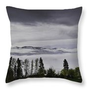 Kal Lake In The Mist Throw Pillow by Rod Sterling