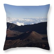 Kalahaku Overlook Haleakala Maui Hawaii Throw Pillow