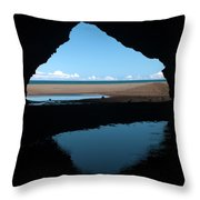 Kalalau Cave Throw Pillow by Brian Harig