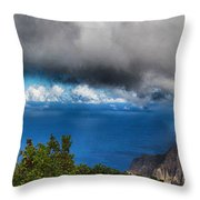 Kalalau Outlook  Throw Pillow