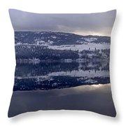 Sunset Kalamalka Lake - British Columbia Throw Pillow