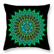Kaleidoscope 1 Blues And Greens Throw Pillow