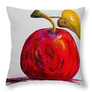 Kaleidoscope Apple -- Or -- Apple For The Teacher  Throw Pillow by Eloise Schneider